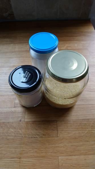 Reused Glass Jars